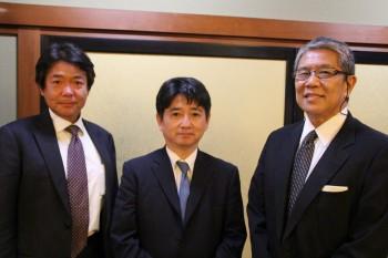 左から杉本会長・中島会長・松岡代表監事