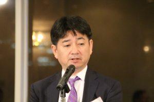 九州ゴム工業会の中島会長が趣旨を述べた
