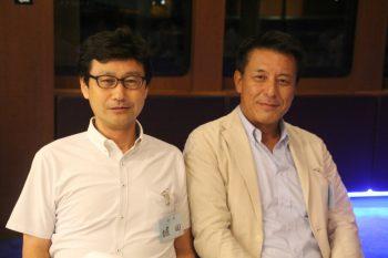 左から堀田会長と霜田副会長