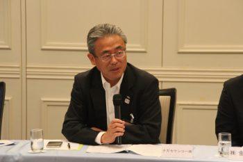 当工業会の報告をする柳田副会長